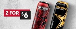 Rockstar Energy Drinks 2 for $6