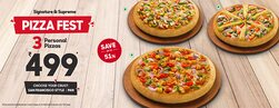 3 Personal Pan Pizzas Starting @499 ( Save Upto 51%)