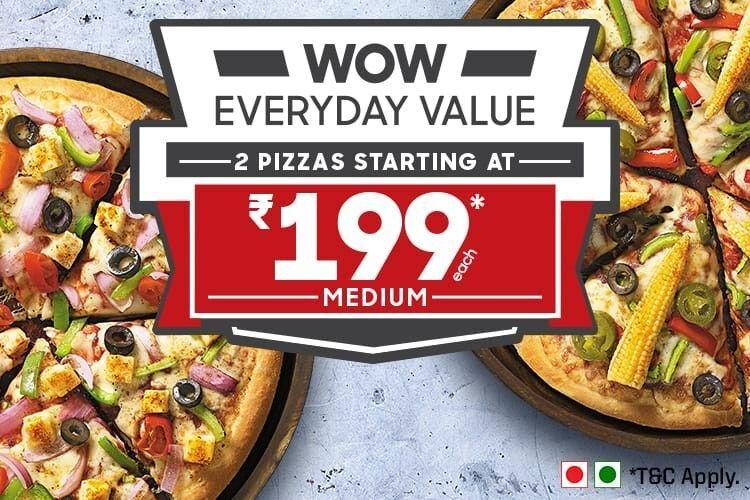 Medium Pan Pizzas Starting At ₹ 199