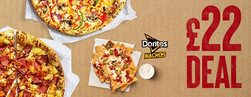 2 Large Pizzas & 1 Classic Side for £22