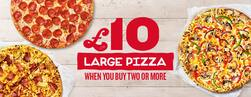 £10 large pizzas