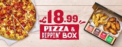 The £18.99 Large Pizza crust + Dipping Box Deal